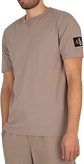 Calvin Klein Jeans Men's Monogram Sleeve Badge T-Shirt, Grey, S