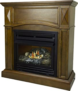 Pleasant Hearth 36 Compact Heritage 20,000 Liquid Propane Vent Free Fireplace System 20K BTU, Rich