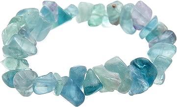 Fundamental Rockhound Products: Fluorite Gemstone Chunky Chip Bracelet Stretch w/Pouch