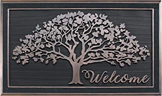 """A1 Home Collections A1HOME200126 Doormat/Oak Design/All Season/Large 30"""" X 48"""", Shredding Tree Rubber"""