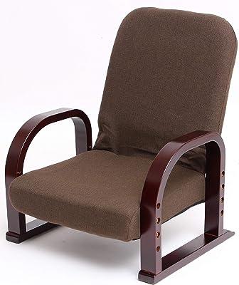 タック 座椅子 ブラウン ミドル