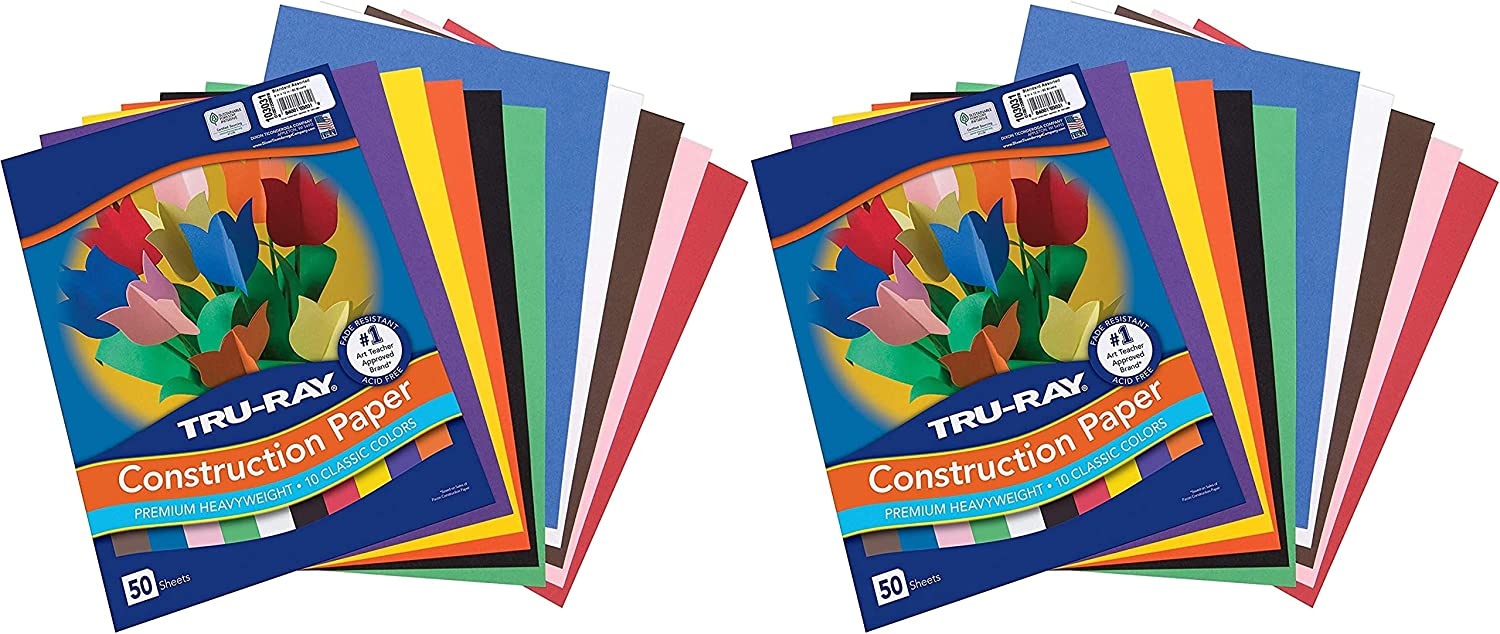 Tru-Ray Construction Paper 10 Ranking TOP11 Classic Colors x Shee Genuine 12