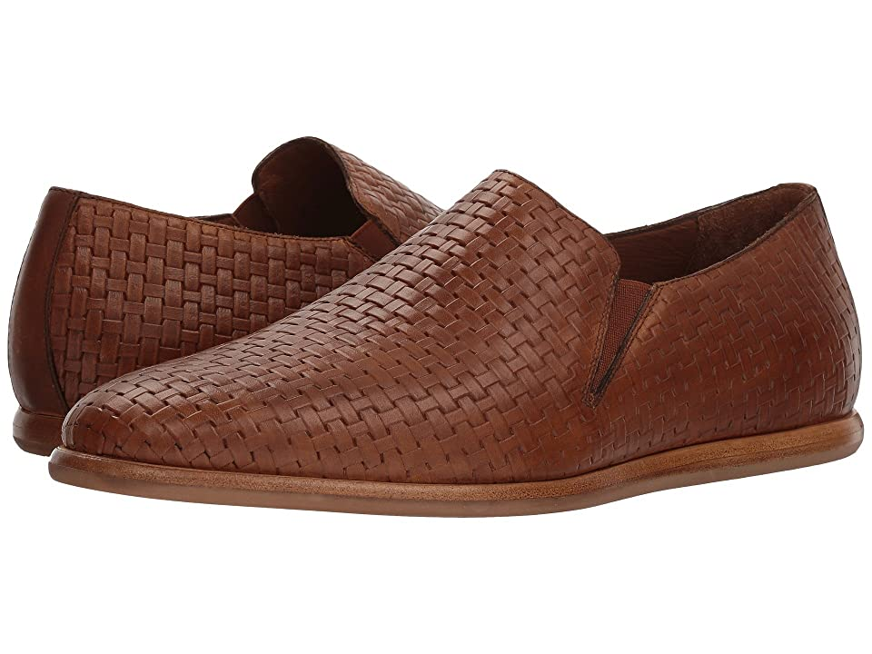 Aquatalia Irwin (Medium Brown Embossed Calf) Men