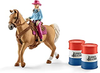 Schleich Barrel Racing With Cowgirl Set, Multi Colour