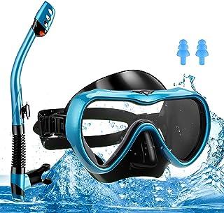 yumcute snorkelmask för hela ansiktet 180° panoramisk, läckagesäker, anti-dimma, snorklingmask som är lätt att andas med a...