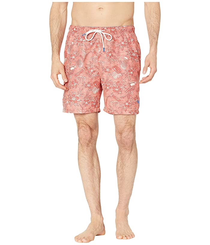 Tommy Bahama Naples Tiki Luau Swim Trunk (Burnt Coral) Men