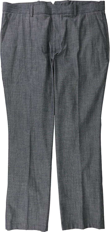 Tasso Elba Mens 38X30 Chambray Dress - Flat Front Pants