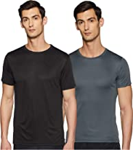 Qube By Fort Collins Men's Solid Regular Fit T-Shirt (Pack of 2)