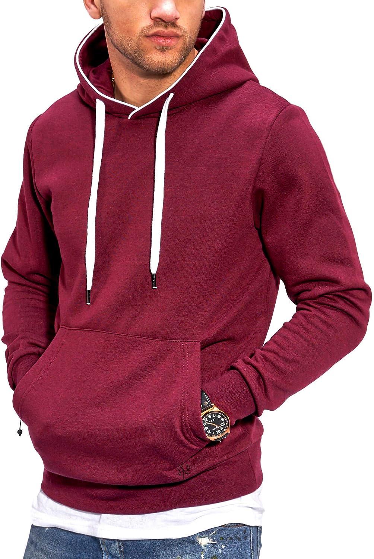 JACK /& JONES Herren Hoodie Kapuzenpullover Benny Hood Casual Unifarben Meliert Streetwear