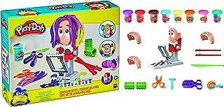 Play-Doh Super Stylist-kapsalon speelgoed voor kinderen vanaf 3 jaar met 8 potjes driekleurige Play-Doh-klei van elk 56 gram