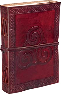 Paper High Celtic Triskelion Symbol Leather Journal Notebook Brown