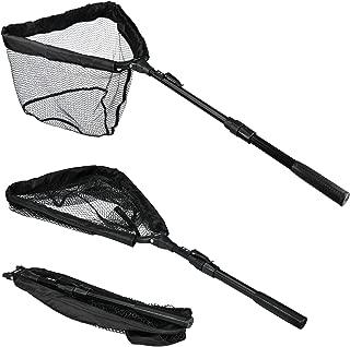 Booms Fishing N04 Fishing Landing Net with Telescopic Handle, Compact Folding Net