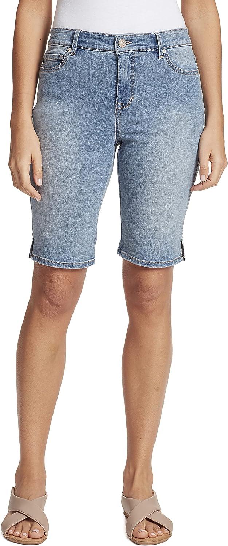 Gloria Vanderbilt Women's Mid Inventory cleanup selling sale Rise Feminine Short Bermuda Product Cut