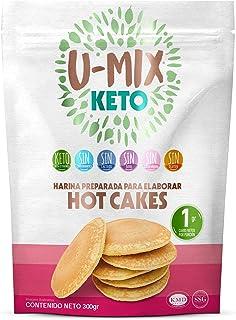 U Mix You Mix, Harina PREMEZCLA PARA HOT CAKES KETO, 300 gramos
