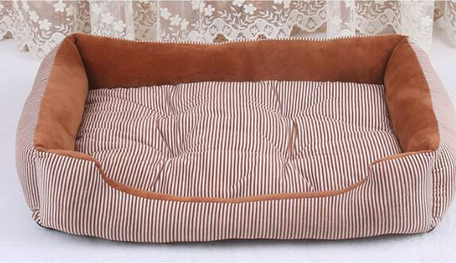 Extra Large Pet Bed Sofas for Cat Dogs Husky Bulldog Removable Sleeping Cushion Mattress Take Out Small Large Dog House,Light Brown,S 50X38X15Cm