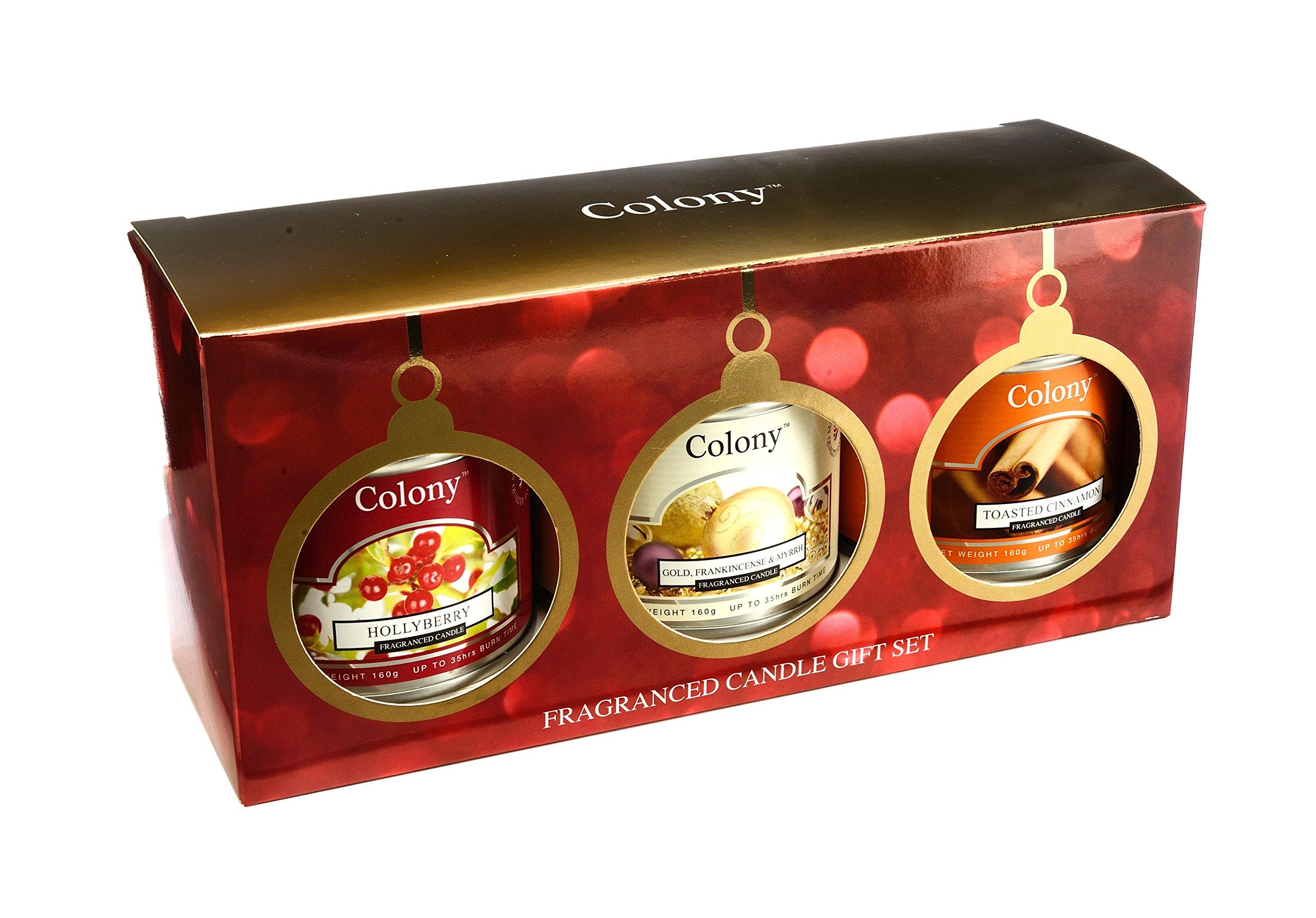 Colonia Navidad lakeballs Vela latas, Juego de 3: Amazon.es: Hogar