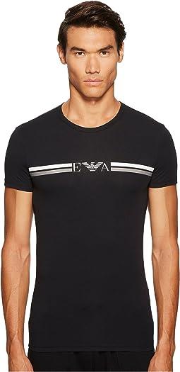Emporio Armani - Rugby Player Pop Stripe Crew Neck T-Shirt