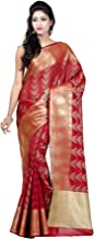 Chandrakala Women's Cotton Silk Blend Indian Ethnic Banarasi Saree with Unstitched Blousepiece(1119)