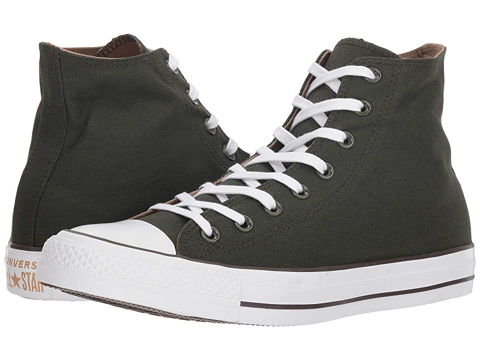 Converse Chuck Taylor(r) All Star(r) Seasonal Color Hi (Utility Green/Teak/White) Lace up casual Shoes