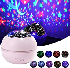 Kids Night Light, 360 Degree Rotating Star Projector Night Light for Kids Children Baby Bedroom and Party Decorations Night Light for Girls (Pink)