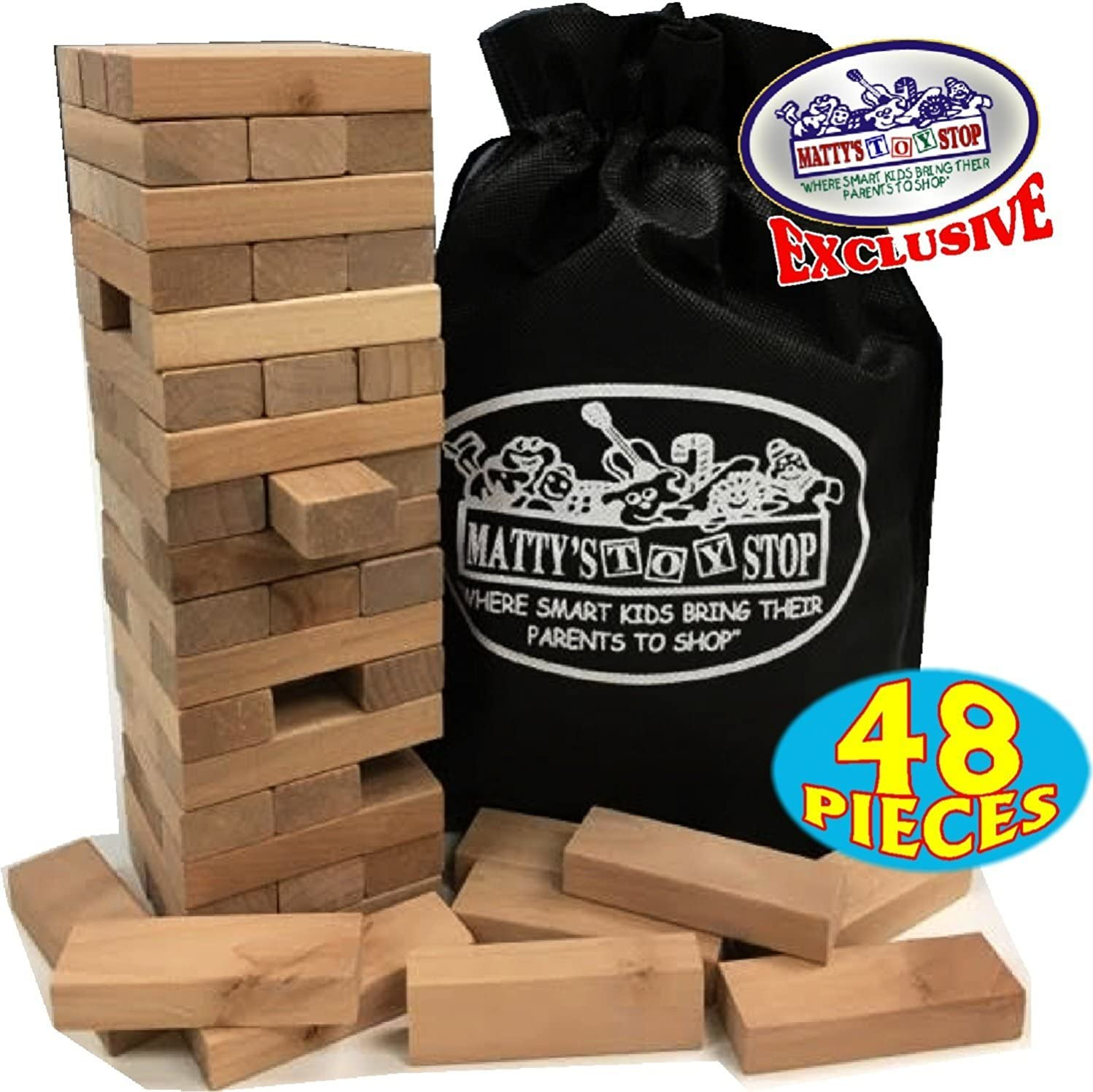 Fort Worth Mall Wooden Genuine Tower Deluxe Stacking Game Sto with Matty's Toy Exclusive