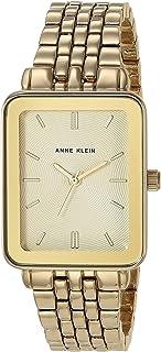 Women's Gold-Tone Bracelet Watch with Rectangular Case,...
