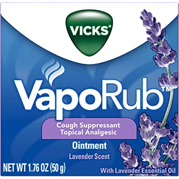 Vicks VapoRub Lavender Scented Chest Rub Ointment, 1.76 oz - Relief from Cough, Cold, Aches, and Pains, with Original Medicated Vicks Vapors
