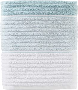 SKL Home by Saturday Knight Ltd. Planet Ombre 100% Turkish Cotton Bath Towel, Aqua
