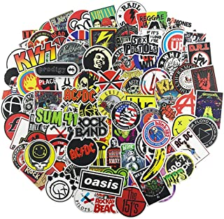100Pcs Music Band Stickers for Guitar Laptop Bass Piano Violin Drum Skateboard Travel Case Water Bottle Phone Cool Rock and Roll Decal for Teen&Adult