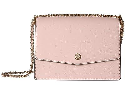 Tory Burch Robinson Convertible Shoulder Bag (Shell Pink) Handbags