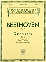 Concerto in D Major, Op. 61: Schirmer Library of Classics Volume 233
