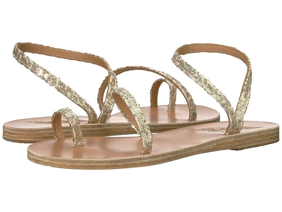 Ancient Greek Sandals Apli Eleftheria (Platinum/Nude Micro Sequins) Women