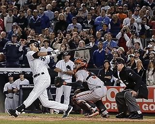TCS Derek Jeter Final Game Winning Hit at Yankee Stadium 8x10 Photo Swinging Last Hit at Bat