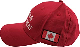 Mapox Corp. Canada is Already Great Cap with Canadian Flag Adjustable Baseball Hat Red