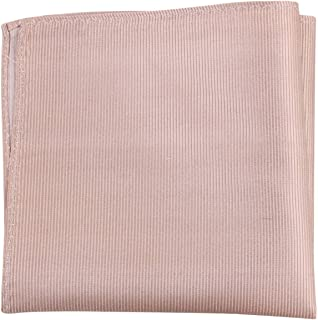 Knightsbridge Neckwear Mens Ribbed Silk Pocket Square - Beige