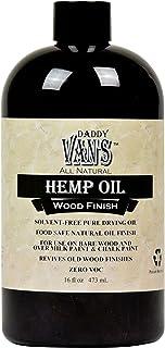 Daddy Van's All Natural Hemp Oil Food Safe Wood Finish and Restorer (16 oz.)