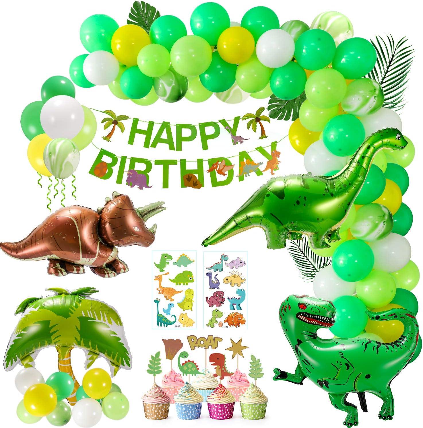 Kindergeburtstag Dekorationen, 8 Stück Luftballons Dinosaurier ...