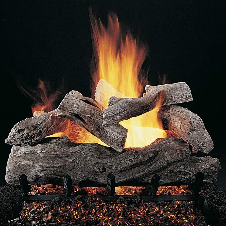 Rasmussen Manzanita Log Set Kansas City Mall with 18-Inch Burner and Pan Custom Opening large release sale N