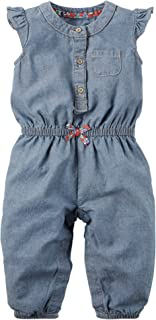 Carters Girls 0-24 Months Chambray Jumpsuit (6 Months)