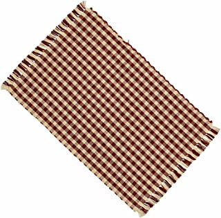 Home Collection by Raghu Heritage House Check Barn and Red Nutmeg Placemat, 14 by 18