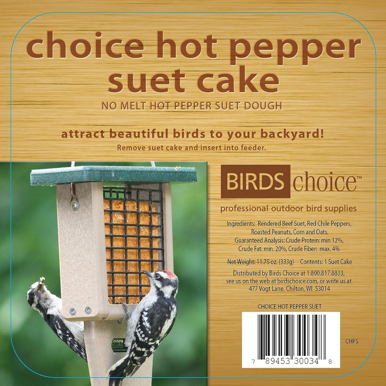 Birds Choice Hot Pepper Suet Cake 11.75 oz, Case of 12