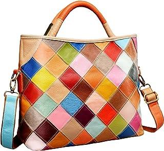 Womens Multi-color Shoulder Bag Hobo Tote Handbag Cross Body Purse