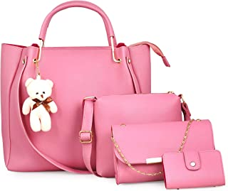 JFC Women's Handbag With Sling Bag (Set of 2) (bucket_Multicolored)