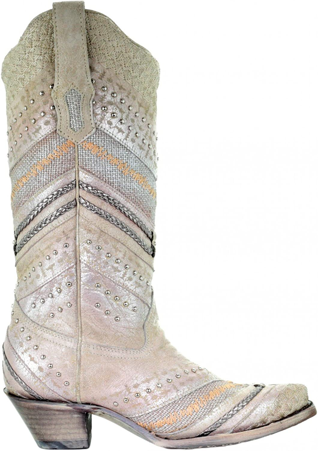 Corral A3604 Metallic Embroidered Studded Western Boots