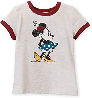 Minnie Mouse Classic Ringer T-Shirt for Girls - Oat Multi