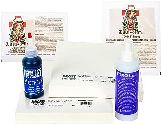 Inkjet Stencils Tattoo Kit - Ink, Stencil Prep and Tattoo Aftercare Supplies