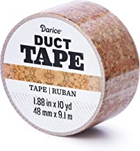Darice Patterned Duct Tape: Cork, 1.88 Inches x 10 Yards