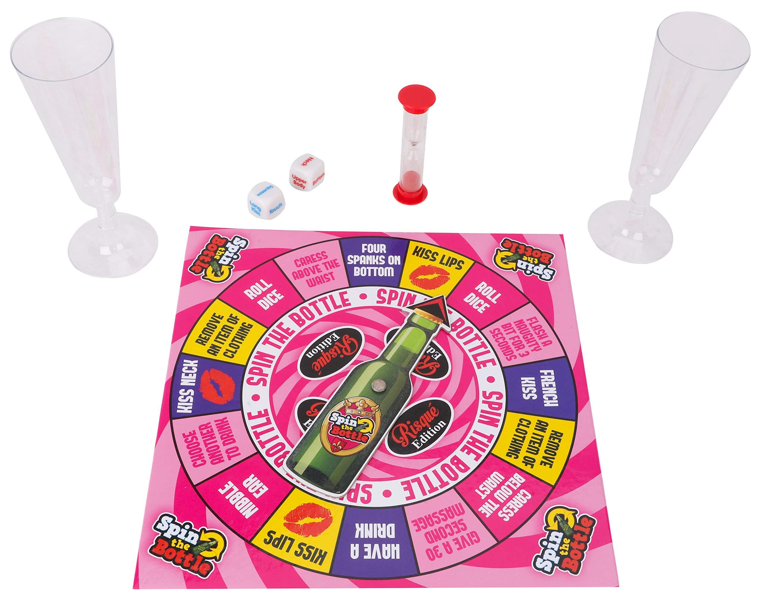 TOYLAND Juego Spin The Bottle Risque Edition - Fiestas para Adultos - Solo Adultos - Juegos para Adultos - Juegos de Beber: Amazon.es: Juguetes y juegos