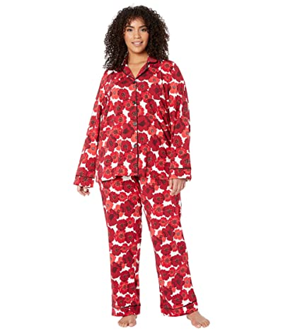 BedHead Pajamas Plus Size Long Sleeve Classic Notch Collar Pajama Set (Marilyn) Women