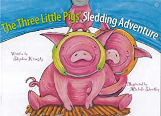 The Three Little Pigs' Sledding Adventure